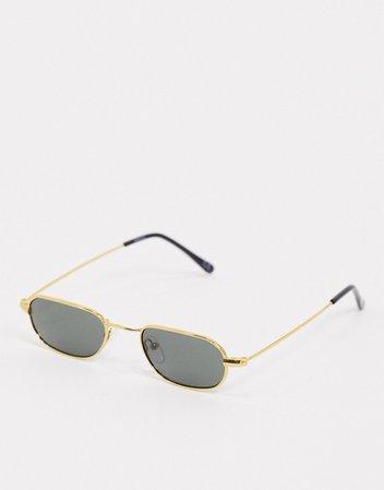 ASOS DESIGN small metal round sunglasses with G15 lens | ASOS
