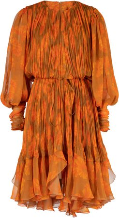 Maria Lucia Hohan Monica Printed Georgette Dress Size: 36