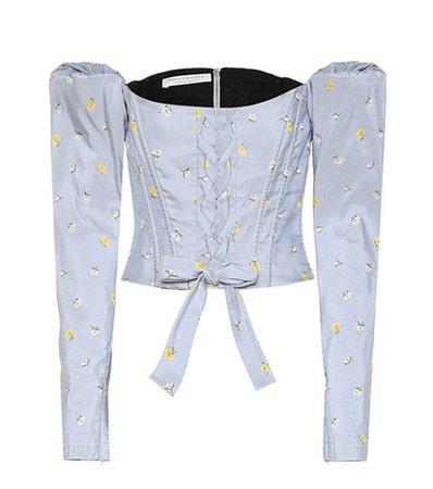 Jacquard corset top