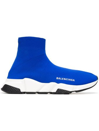 Balenciaga blue and white speed sock sneakers $770 - Shop SS19 Online - Fast Delivery, Price
