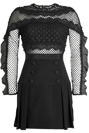 Lace Dress with Ruffled Sleeves Gr. UK 4