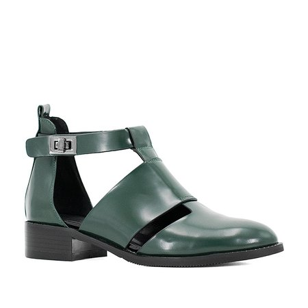 SOPHITINA High Quality Shoes Black dark green cow Leather Round Toe Women Sandals hot sale fashion square heel Casual Shoes S21 купить на AliExpress