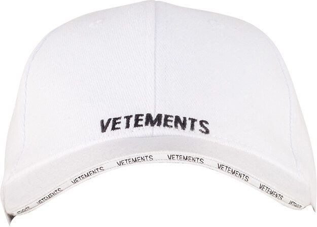 Vetements Logo Cap White