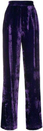 Erika velvet high waisted trousers