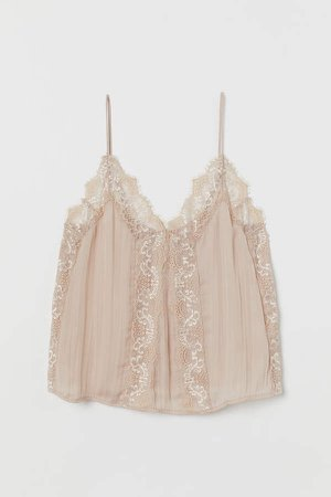 Camisole Top with Lace - Orange