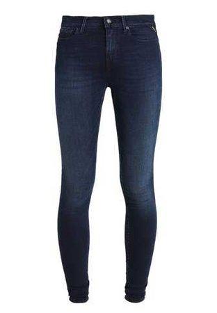 Replay JOI PANTS - Jeans Skinny Fit - dark blue denim - Zalando.co.uk
