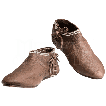 12th Century Leather Shoes - MH-SH0954 by Medieval Collectibles
