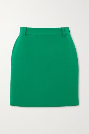 Green Wool-blend mini skirt   Balenciaga   NET-A-PORTER