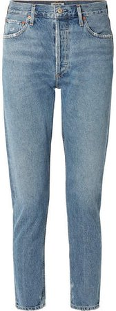 AGOLDE - Jamie High-rise Straight-leg Jeans - Blue