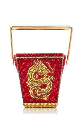 Golden Dragon Crystal-Embellished Top Handle Bag by Judith Leiber Couture | Moda Operandi