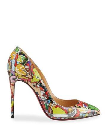 Christian Louboutin Pigalle Follies Printed Stiletto Pumps | Neiman Marcus