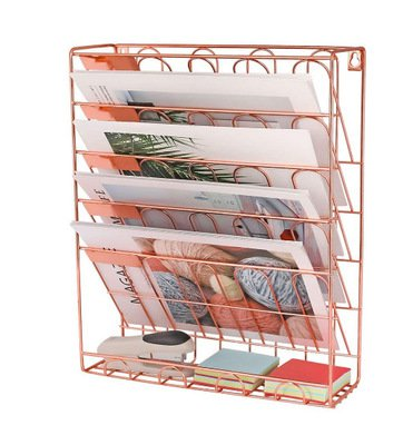 European Simple Rose Gold Iron Bookshelf Desktop Books Magazine Storage Rack creative storage rack folder rack-in Magazine Organizer from Office & School Supplies on Aliexpress.com | Alibaba Group