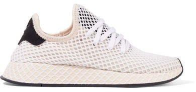 Deerupt Runner Suede-trimmed Mesh Sneakers - White