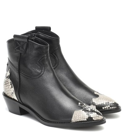Western Leather Ankle Boots - See By Chloé   Mytheresa
