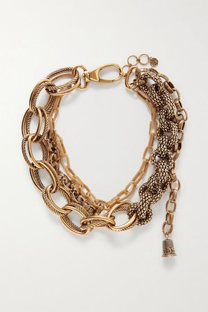 Gold Gold-tone necklace | Alexander McQueen | NET-A-PORTER