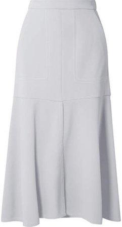Frisse Ponte Midi Skirt - Light gray