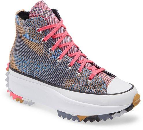 Chuck Taylor(R) All Star(R) Run Star Hike Knit High Top Platform Sneaker