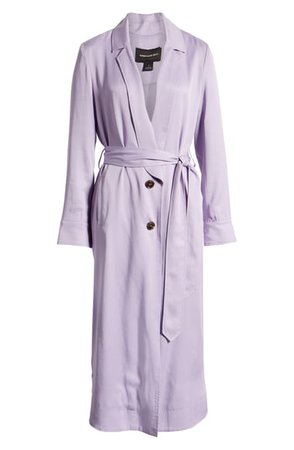 Something Navy Elongated Collar Trench Coat (Nordstrom Exclusive)   Nordstrom