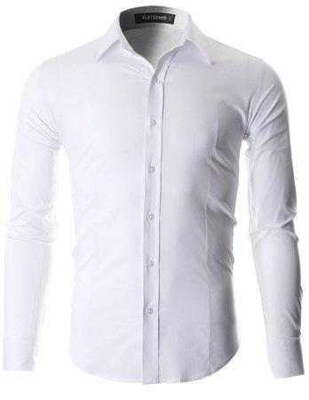Men's Slim Fit Casual Button Down Dress Shirt Long Sleeve (SH600)