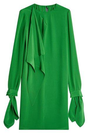 Draped Silk Dress Gr. IT 46