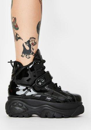 Buffalo London Classic High Patent Leather Sneakers | Dolls Kill
