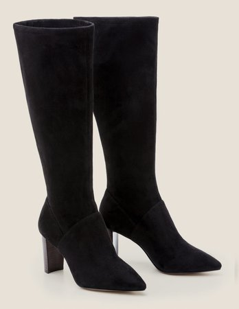 Pointed Stretch Boots - Black   Boden US