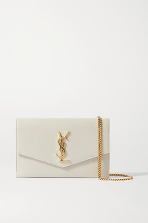 Uptown Textured-leather Shoulder Bag - Off-white