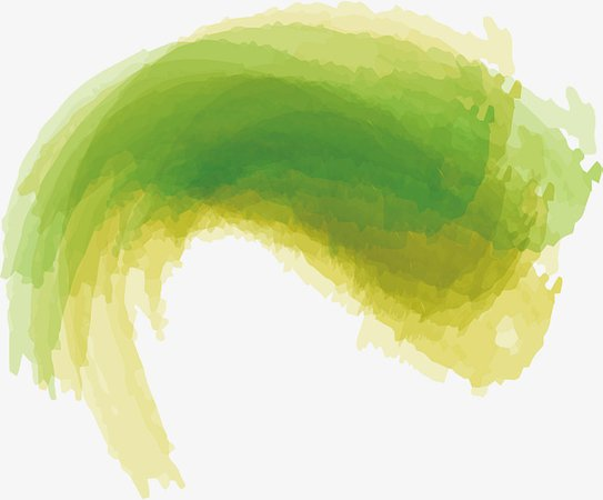Green Watercolor Brush, Vector Png, Curved Brush, Green Brush PNG and Vector for Free Download