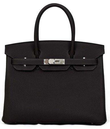 black leather birkin