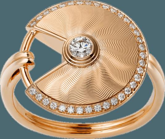 CRB4217200 - Bague Amulette de Cartier PM - Or rose, diamants - Cartier