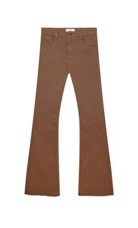 Flared trousers with side slit - Women's Just in | Stradivarius United States
