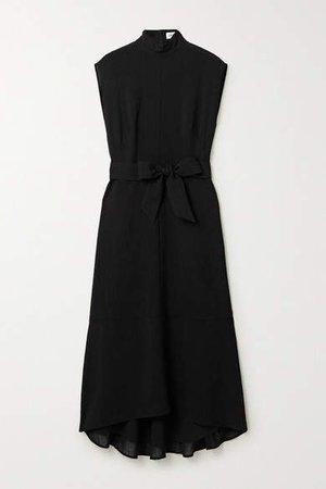 Cefinn - Etta Belted Voile Midi Dress - Black