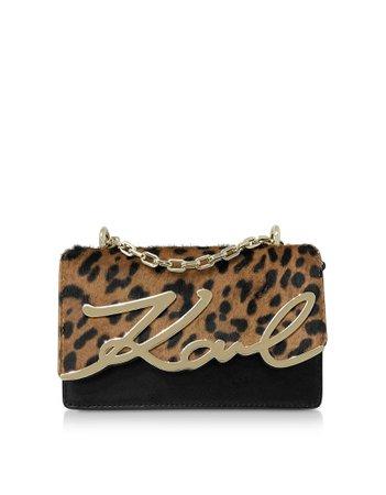 Karl Lagerfeld K/signature Leopard Small Shoulder Bag