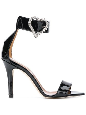 heart buckle sandals