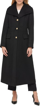 Long Wool Blend Coat