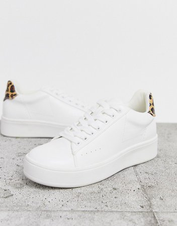 Public Desire Panther leopard detail sneakers | ASOS