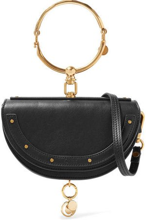 Nile Bracelet Mini Textured-leather Shoulder Bag - Black