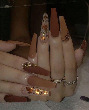Brown Fall Nails