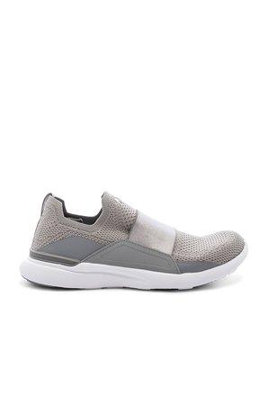 APL: Athletic Propulsion Labs Techloom Bliss Sneaker in Cement & White   REVOLVE