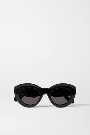 Black Cat-eye acetate sunglasses | Loewe | NET-A-PORTER