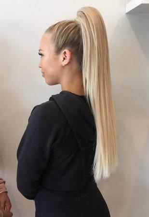 blonde high ponytail - Google Search