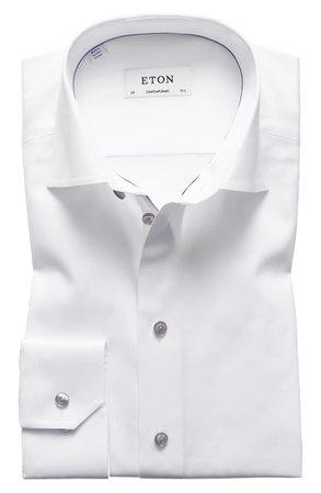Eton Contemporary Fit Twill Dress Shirt | Nordstrom