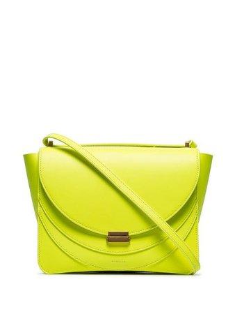 Wandler neon yellow Luna leather shoulder bag