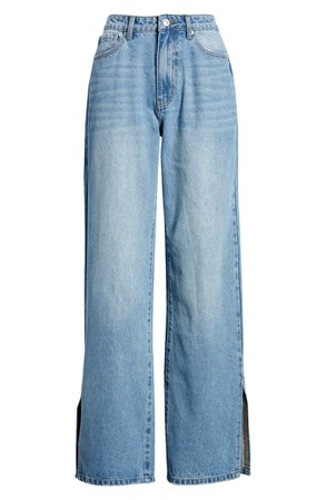 Split Wide Leg Jeans   Nordstrom
