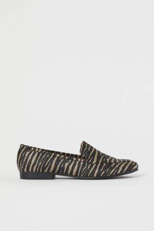 Jacquard-patterned Loafers - Black