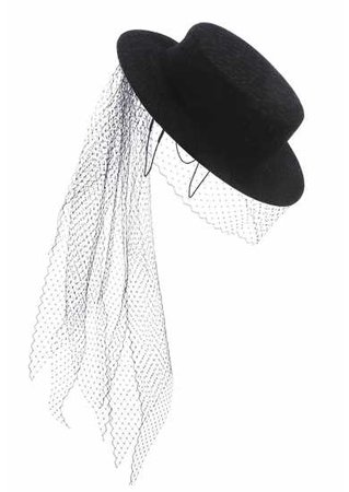 EMILY - LONDON Rochester black hat with veil - Harvey Nichols