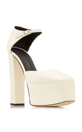 Bebe Leather Platform Sandals By Giuseppe Zanotti   Moda Operandi