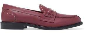 Red(V) Red(v) Studded Leather Loafers