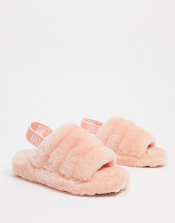 UGG Fluff Yeah slide slippers in california pink | ASOS