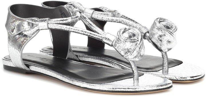 Jarley metallic leather sandals